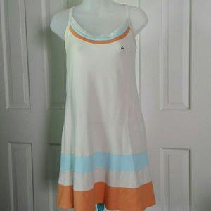 Lacoste stripe criss cross strap sundress sz40 szM